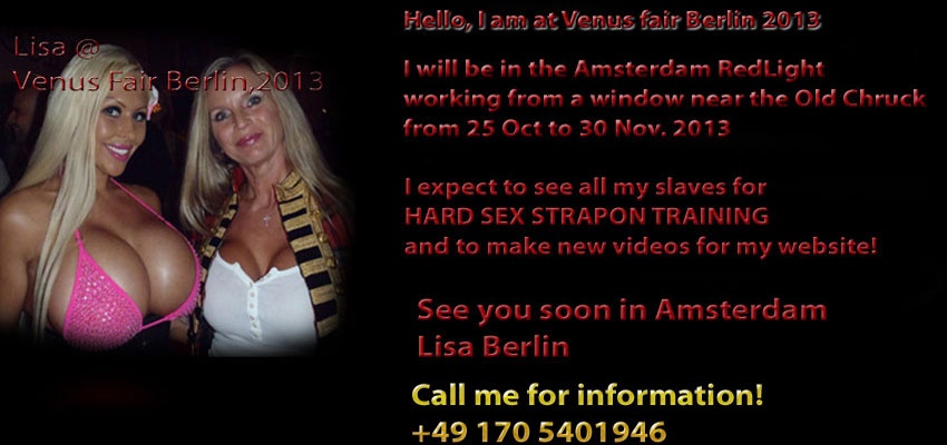 lisa berlin Amsterdam sex tour from 5 October to 30 November 2013
